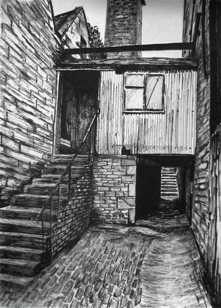 Derelict Building 2013 Pen on paper 15 x 11 inches £215 for original