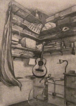The Study 2013 Pencil on paper Available as prints only