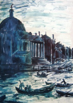 Grand Canal 2011 Ink on paper (Inspired by Canaletto) Available as prints only