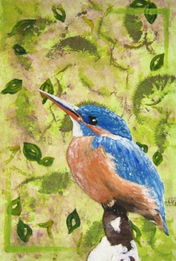 Kingfisher 2010 Acrylic on canvas board Available as prints only