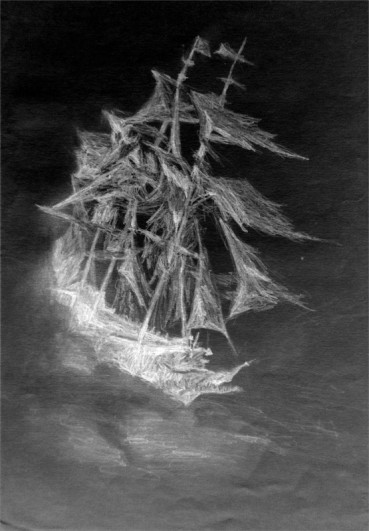 The Flying Dutchman 2010 Pencil on paper Available as prints only